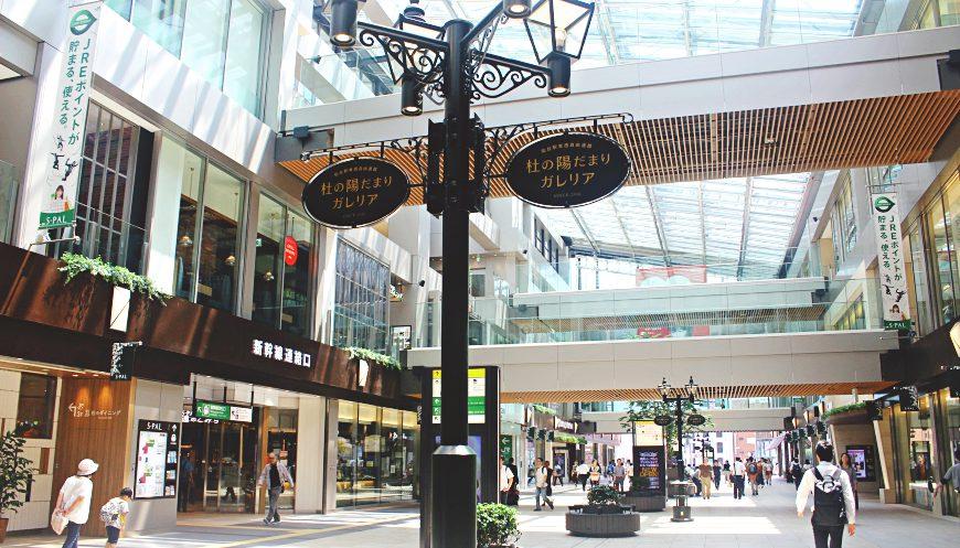日本東北自由行仙台車站東口東西自由通路的spal東館