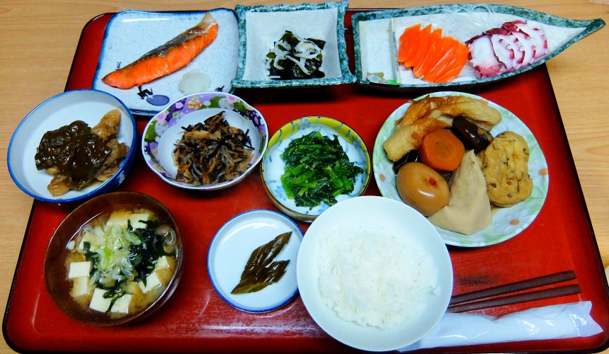 東北一之關・平泉「觀樂樓」佐藤先生煮的菜餚