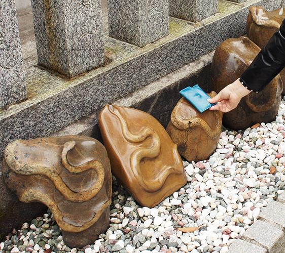 金蛇水神社的蛇紋石