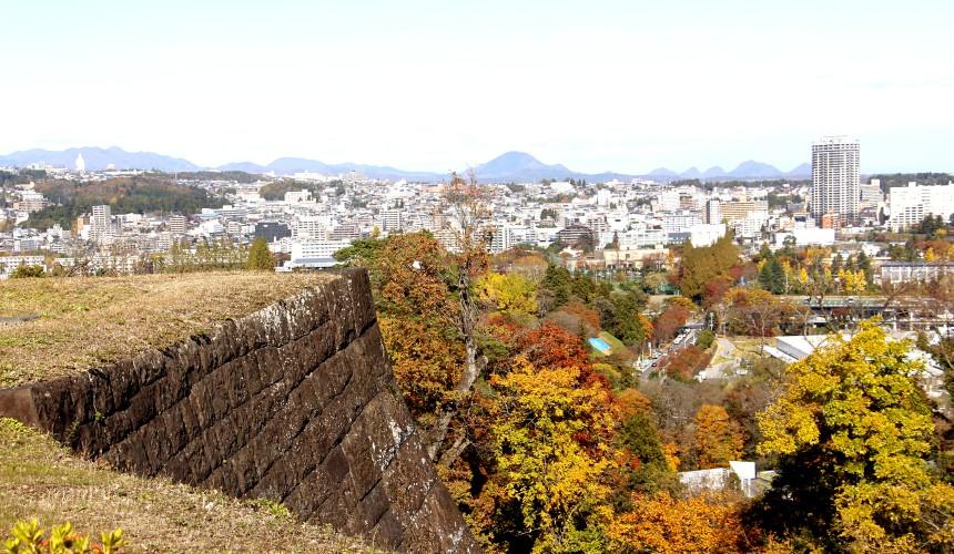 從仙台城址眺望的仙台市景