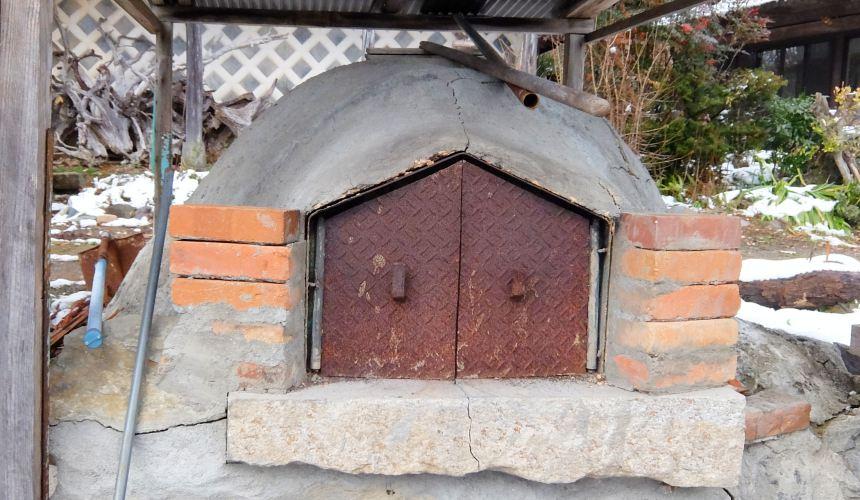 東北一之關・平泉「民宿 三澤」的披薩窯