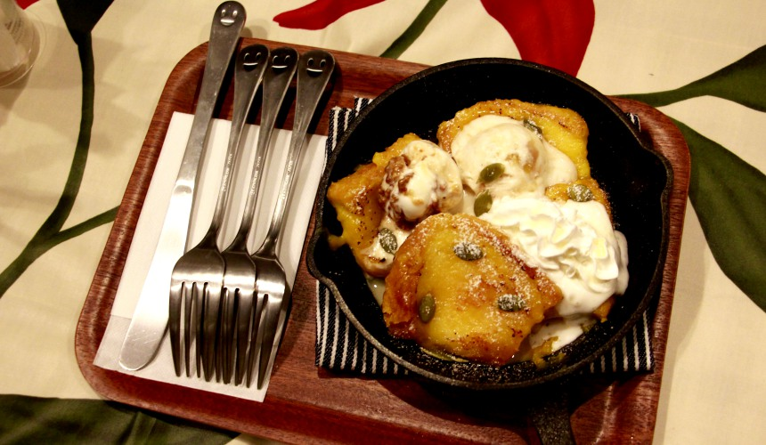 法式吐司佐義式冰淇淋