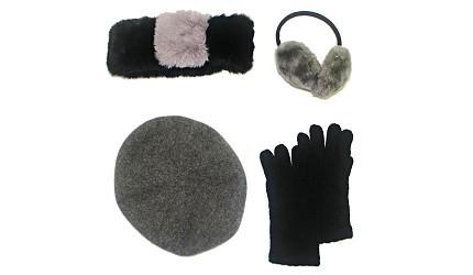 毛帽手套圍巾耳罩示意圖