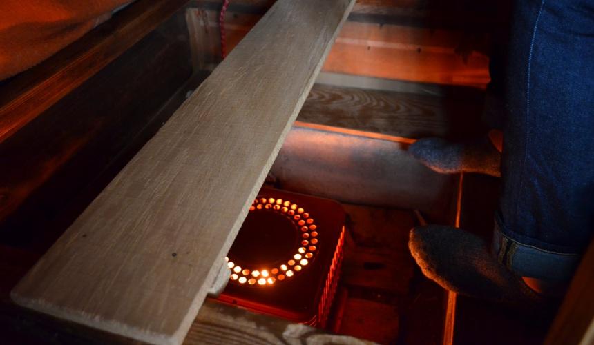 東北一之關・平泉「觀樂樓」的暖桌