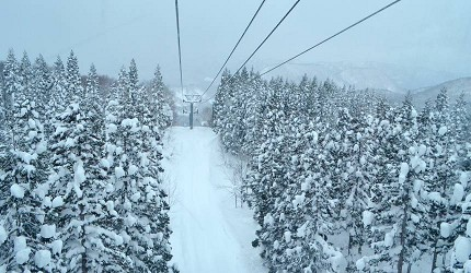 森吉山阿仁滑雪場雪景