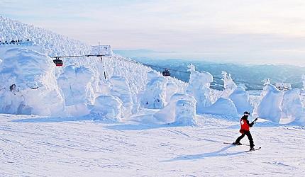 山形藏王樹冰滑雪