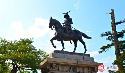 仙台自由行票券推薦「仙台MARUGOTO PASS」二日券可抵達觀光景點「仙台城本丸」的伊達政宗騎馬像
