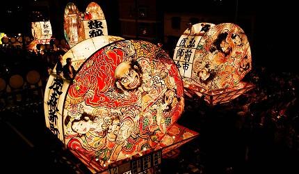 日本青森弘前的弘前睡魔祭(弘前ねぷたまつり)花灯之一