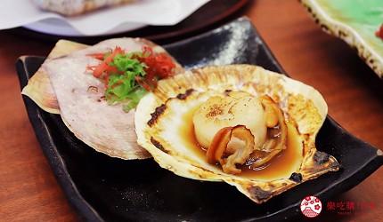 青森居酒屋推薦「酒肴旬 三石」的必點特色料理烤帆立貝(ホタテの磯焼)