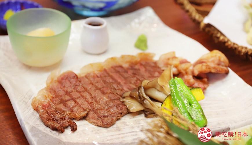 青森居酒屋推薦「酒肴旬 三石」的必點特色料理和牛沙朗牛排(和牛サーロインステーキ)