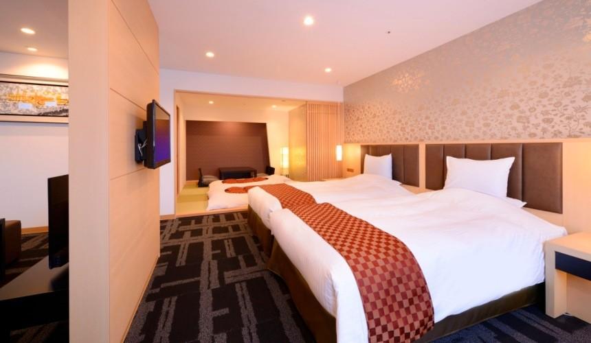 狐狸村住宿推薦!宮城縣度假村飯店「Active Resorts 宮城藏王」的5人家族和洋式房
