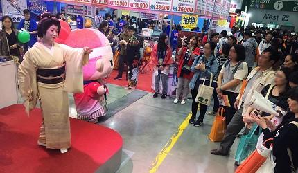 會津東山溫泉在台北國際旅展中的攤位