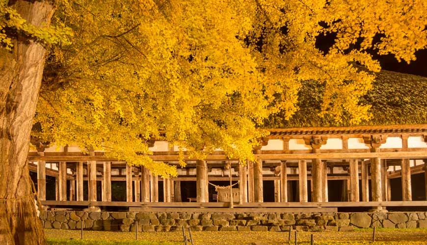 东北福岛会津喜多方市新宫熊野神社长床