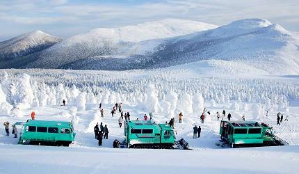 冬季東北景點推薦宮城縣宮城藏王三源鄉藏王樹冰景色