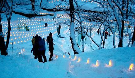 冬季東北景點推薦宮城縣宮城藏王三源鄉冬季點燈景色