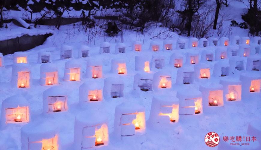 宫城藏王三源乡景点川崎町青根温泉冬季点灯