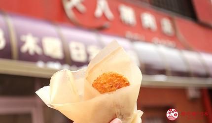 宫城藏王三源乡景点远刈田温泉街美食牛肉饼