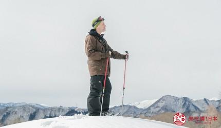 东北福岛景点推荐高杖滑雪场雪中健行体验